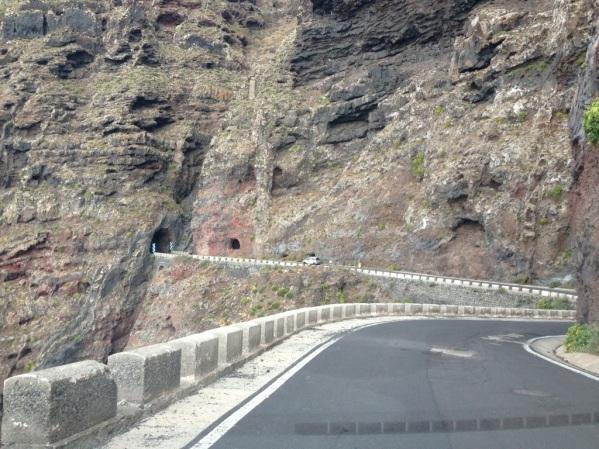 Cesta z Punta Teno na ktorej sa odohr§avali preteky