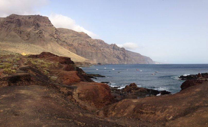 Pohľad na druhý najvyšši útes v Európe Costa Los Gigantes