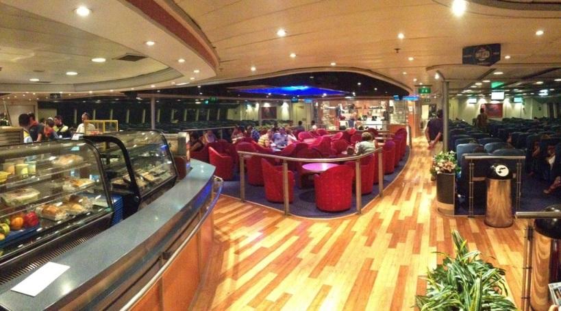 Na palubí lode Fred Olsen Express