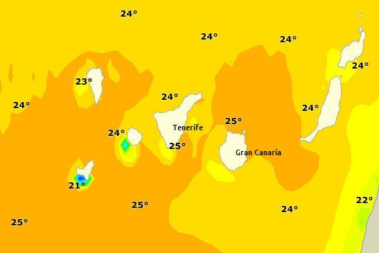 Teplota vody 30 Septembra 2013
