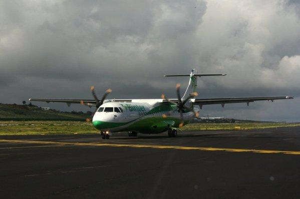 Lietadlo leteckej spoločnosti Binter Canarias ATR-72