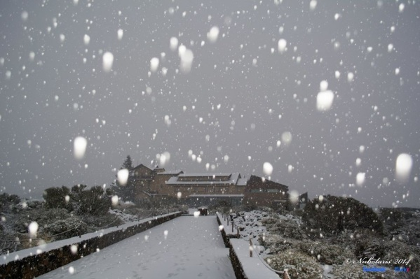 Sneh v Národnom Parku Teide Január 2014