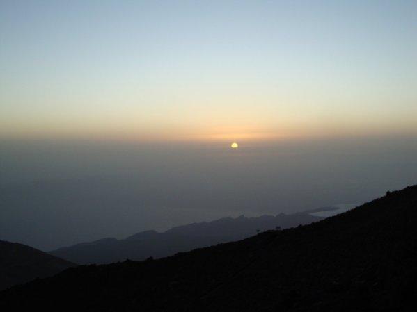 Východ slnka na Teide