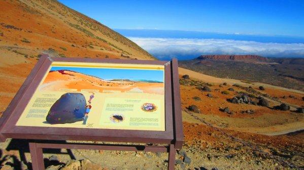 """Cestou si môžete prečítať viac o skalách vajcového tvaru. """"Huevos del Teide"""""""