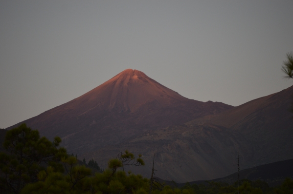 Pico del Teide pri západe slnka