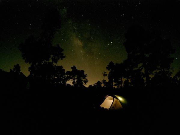 Stanovačka pod hviezdami na Tenerife