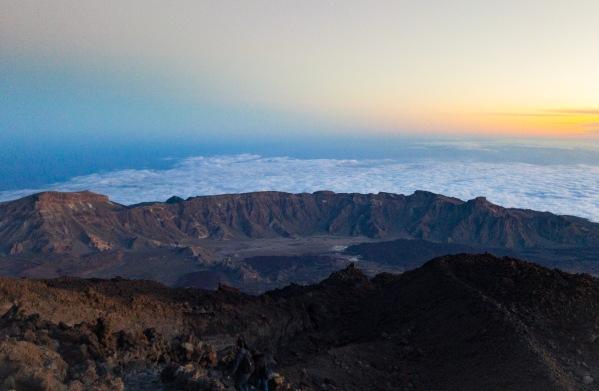 Národný park Teide pri západe slnka