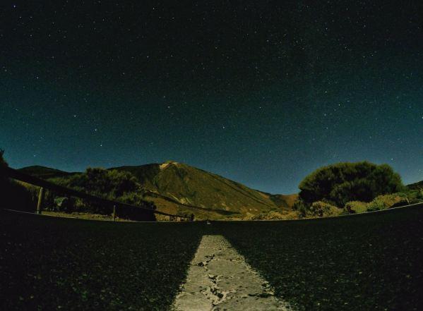Pico del Teide v noci