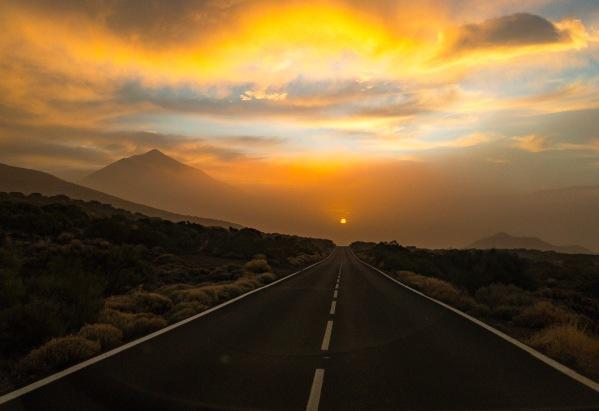 Západ slnka v Národnom Parku Teide