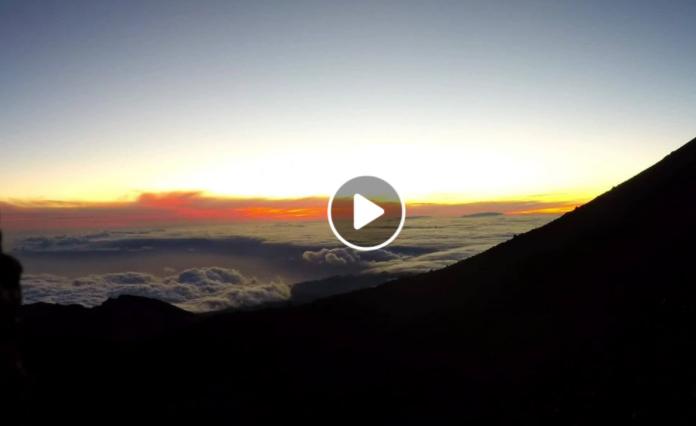 video západ slnka na teide