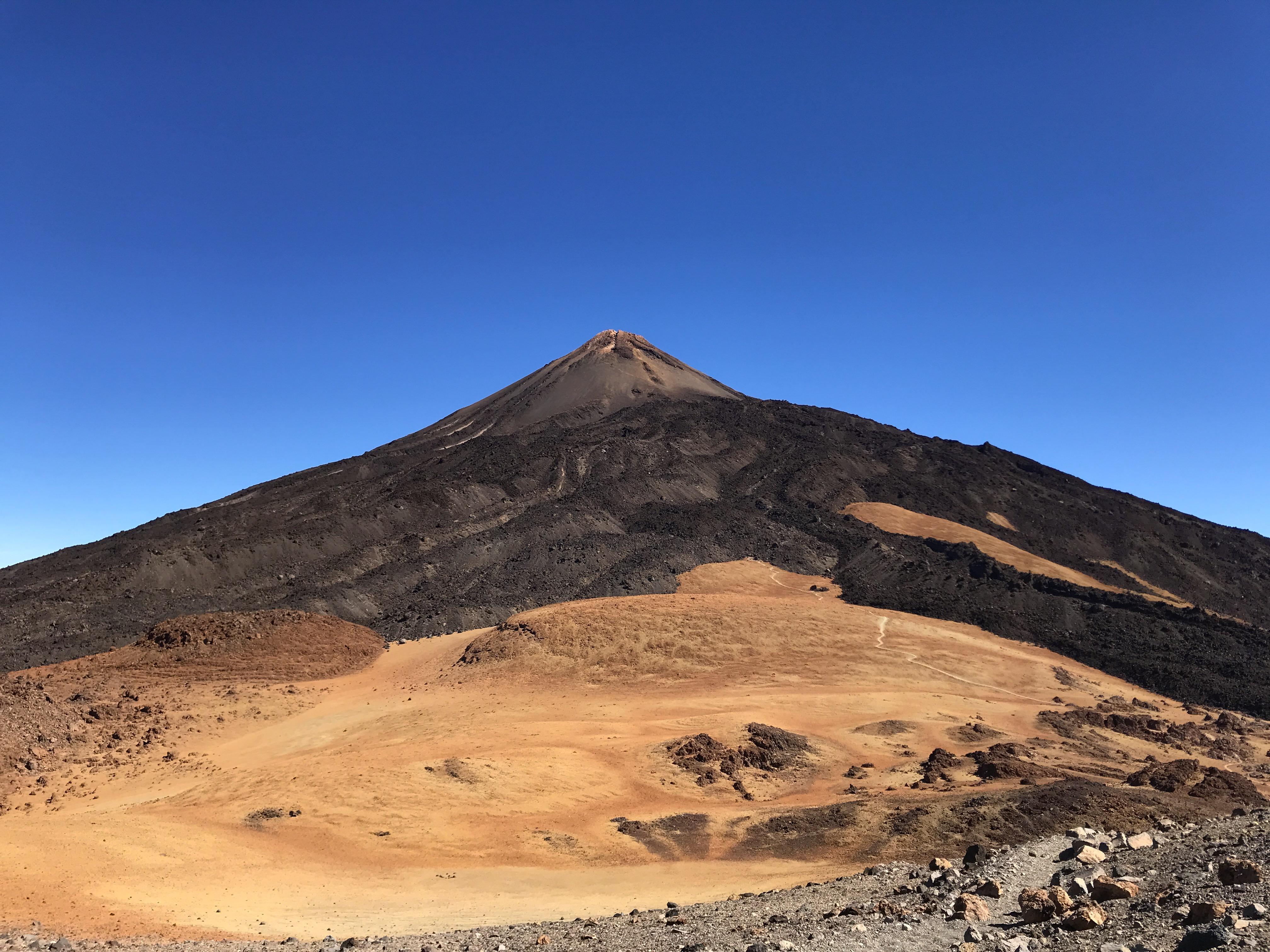 Pohľad na Pico del Teide z Pico Viejo